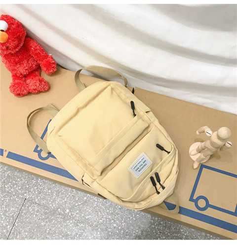 HTB1nfR5XUY1gK0jSZFCq6AwqXXaE Nylon Backpack Women Backpack Solid Color Travel Bag Large Shoulder Bag For Teenage Girl Student School Bag Bagpack Rucksack