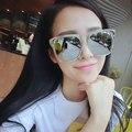 2016 Nuevas Mujeres de La Manera gafas de Sol de Diseñador de la Marca de La Vendimia de Gran Tamaño Shades Sunglasses Blanco Espejo Para Hombre Gafas de Sol gafas de sol