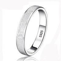 Скидка 95%! Yhamni Серебряная свадьба Кольца для Для мужчин и Для женщин 925 стерлингов Серебряные ювелирные изделия кольцо Уникальный Матовый па