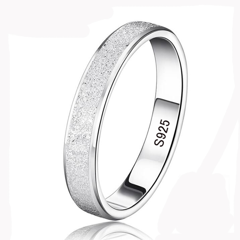 95% OFF! YHAMNI Silver Wedding Rings for Men and Women 925 Sterling Silver Jewelry Ring Unique Frosted Couple Finger Rings XMS07 yhamni 100