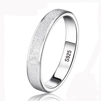 95% OFF! YHAMNI Silver Wedding Rings for Men and Women 925 Sterling Silver Jewelry Ring Unique Frosted Couple Finger Rings XMS07