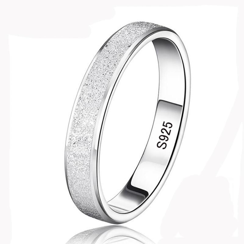 95%! YHAMNI bagues de mariage en argent pour hommes et femmes 925 bague en argent Sterling bijoux Unique givré Couple bagues XMS07