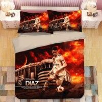 Cristiano Ronaldo Bedding Set Duvet Covers Pillowcases Single Lionel Messi Soccer Super Star Comforter Bedding Sets Bed Linen