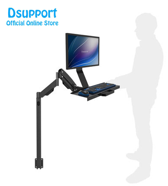 Gas Spring Arm Full Motion Customized Keyboard Monitor Holder Floor Stand Wall Side Mount Stand Working Monitor Mount Arm