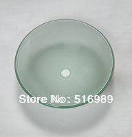 Bathroom Artistic Tempered Glass Vessel Vanity Hand Print Color Sink Bowl Tree147