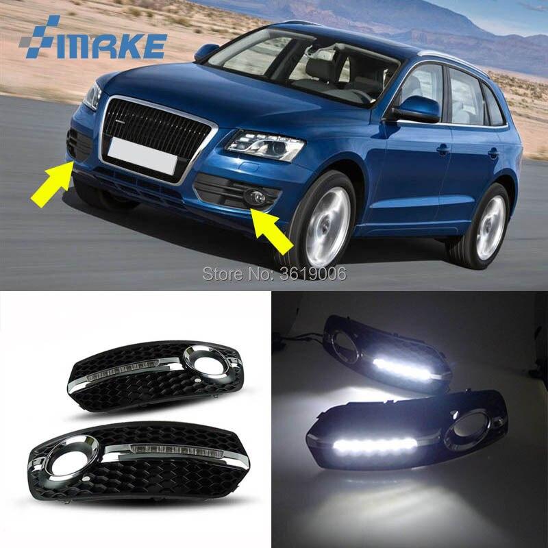 SmRKE для Audi Q5 2010 2013 LED DRL дневные ходовые огни белый свет для вождения водонепроницаемый автомобильный Стайлинг источник света