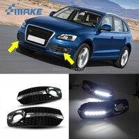 smRKE For Audi Q5 2010 2013 LED DRL Daytime Running Lights White Driving Light Waterproof Car Styling Light Source