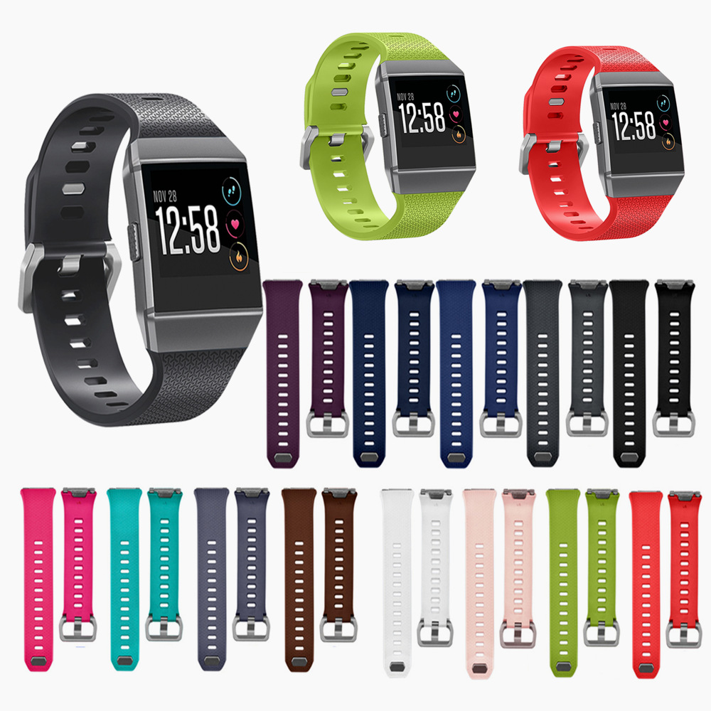 Silicone Wrist Strap Sport Bracelet Wrist Band Replacement Watch Band For Fitbit Ionic Band Small Large Size Smart Accessories