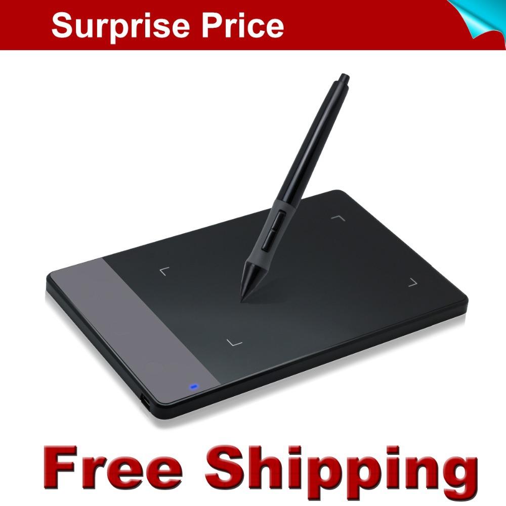 """Prix pour Livraison gratuite promotion nouveau huion 420 4 """"professionnel signature stylo tablette numérique tablette graphique dessin tablet avec mini usb"""