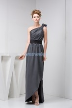 free shipping 2014 new design hot seller custommde size/color pageant dress evening gown one shoulder plus size