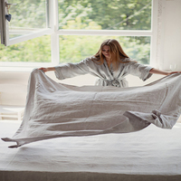 Природный Французский из стираного льна Простыни Льняные ткани Простыни Детские Детская кровать крышка белье плоский Простыни Постельные