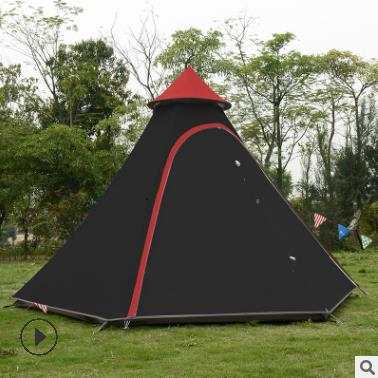 lowest price 3b006 acbfe 2019 3-4 Person Pyramid Aluminum Rod Waterproof Family Teepee Party Gazebo  Driving Sun Shelter Beach Awning Outdoor Camping Tent