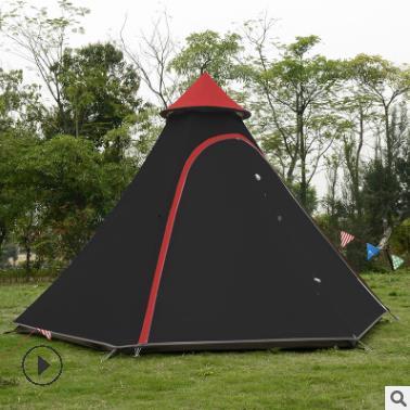 2019 3-4 Personne Pyramide Tige D'aluminium Étanche Famille De Réception Tipi Gazebo Conduite Soleil Abri Plage Auvent Camping En Plein Air tente
