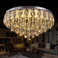 Modern Egg Crystal Round Parlor Ceiling Light Luxury Living Room Elegant Ceiling Lamps Lobby Hotel Stainless Steel Ceiling Light
