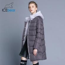 ICEbear 2018 new hooded woman coat winter slim jacket high quality brand clothing design windproof warm parkas GWD18192I