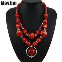 Женское Ожерелье с акриловыми бусинами простое ожерелье в богемном