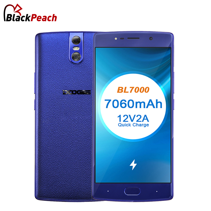 DOOGEE BL7000 Android 7.0 MTK6750T Octa Core 4GB RAM 64GB ROM Dual 13MP Camera Smartphone 5.5 FHD 7060mAh 12V 2A Quick Charge