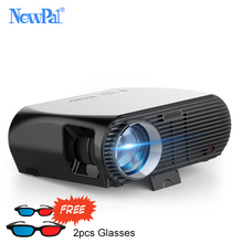 Newpal 3500Lumens LED Projectors GP100 UP Full HD WiFi Android 4K Projector 3D Wireless Video Proyectors with free 3D Glasses