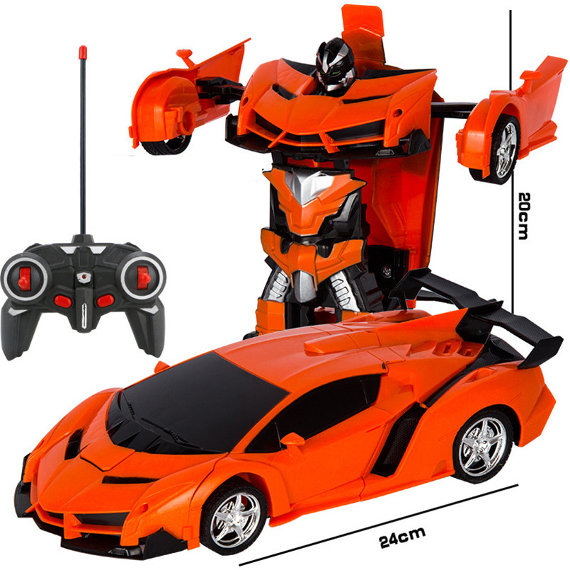 2 в 1 Электрический RC автомобиль трансформации роботы дети мальчики игрушки на открытом воздухе дистанционного Управление спортивные деформации автомобиля модели-роботы игрушка 4