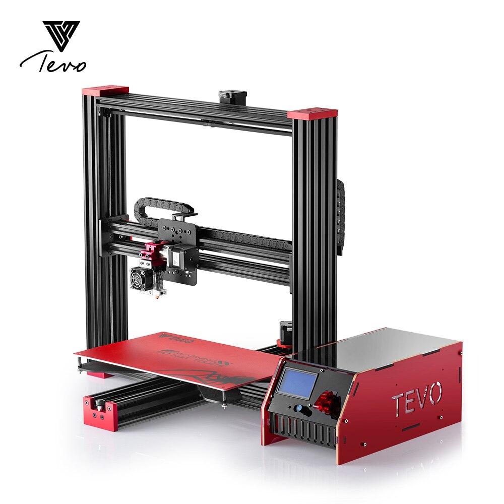 Électronique TEVO Veuve Noire 3D Imprimante Complète En Aluminium Grande Taille D'impression Pas Cher BRICOLAGE Kit D'extrusion DÉPUTÉS Mosfet Carte SD Comme cadeau