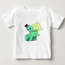 Steven Universe T Shirt kids summer t-shirt boy White Short Sleeve tee shirt Camiseta girl tops 2018 kid t shirts 2-15Y  NN