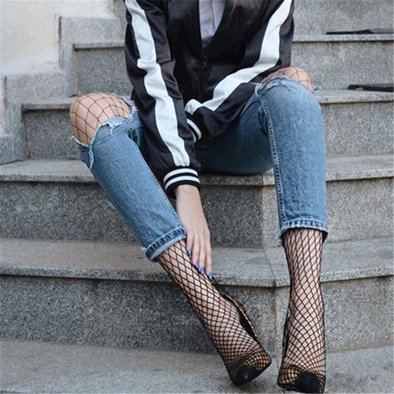 Ixuejie 2018 Лидер продаж Для женщин длинные пикантные ажурные чулки сачок колготки сетка чулки белье кожи бедра Чулки