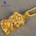 24 K Oro Plateado Pieza Jesus Collar de Hip pop Cadena Fornida de la Joyería Largo Collar de Cadena Colgante de Mujer y Hombres
