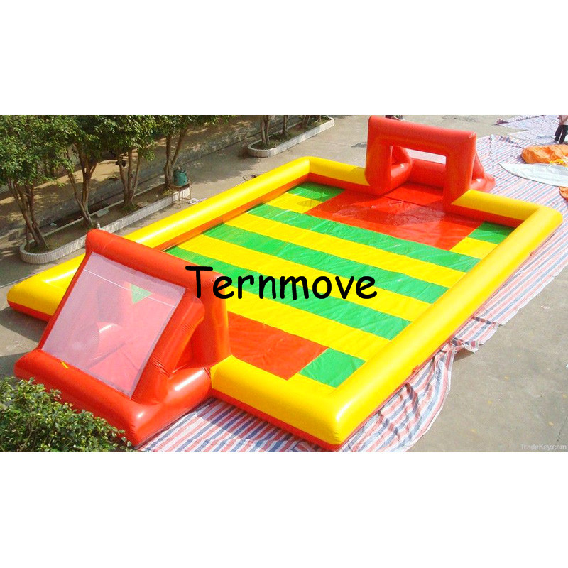 inflatable soccer field,inflatable football court,Manufacturer Portable Outdoor Sports Games air-tight  football field for game free shipping juegos inflables 16x8 meters inflatable soccer field football court with pvc material for kids