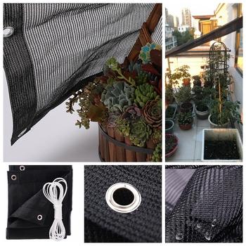 75 cieniowanie Hi-Quality bez zapachu czarny parasol przeciwsłoneczny żagle rośliny ogrodowe osłona przeciwsłoneczna markizy ogrodowe parasolka żagiel na zewnątrz zapewniający cień żagle tanie i dobre opinie Tewango Odcień żagle obudowa nets Hdpe Nie powlekany NNW-70HSZYHM1-1 Sun Shade Sails Black