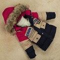 SZ L ~ XXL дети зимнее пальто для мальчиков с капюшоном куртки дети толстая одежда ребенок теплые тепловой верхняя одежда пальто сделать до