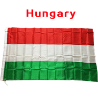2017 The Hungary Flag Polyester Flag 5*3 FT 150*90 CM High Quality you Can add brass buckle(leave massage)