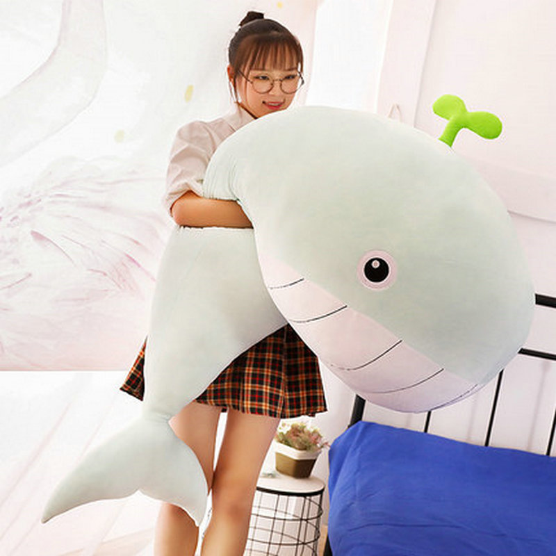 65cm-120cm New Style Toy Very Soft Whale Plush Toys High-quality Fish Pillow Cushion Kids Toys For Children Birthday Gifts
