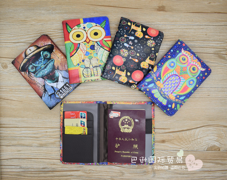 Real Cowhide Genuine Leather Passport Cover Women Travel Passport Case Postcards Passport Holder Porta Pasaporte ...