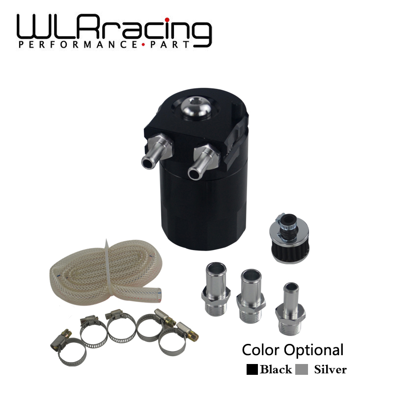 WLR RACING - Baffled Aluminum Oil Catch Can Reservoir Tank / Oil Tank With Filter Universal WLR-TK64
