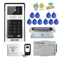 FREE SHIPPING RFID Code Keypad Wifi 720P Video Door Phone Intercom Outdoor Camera For Android IOS
