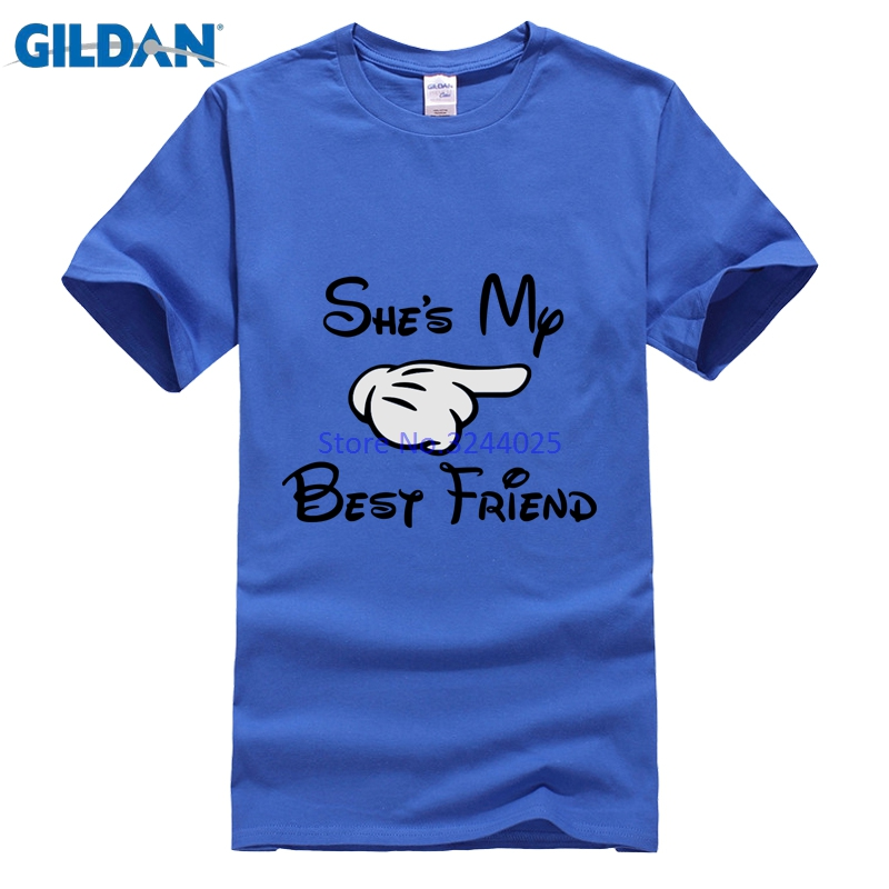 Gildan Tshirt Best Friends Letter Funny T-Shirt For Men Vector Design Fashion Printed Mens T Shirt 3xl - intl