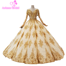 2018 Collection Formal Muslim Champagne And Gold Lace Beading Crystals Off The Shoulder Luxury Vintage Arabic Evening Prom Dress