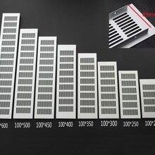 4 шт./лот Premintehdw 100 мм ширина Прямоугольная алюминиевая вентиляционная решетка вентилятора крышка шкафа обувной шкаф решетка для кондиционера