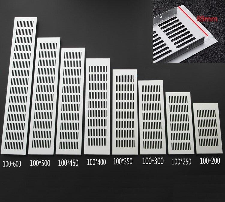 4Pcs/Lot Premintehdw 100MM Width Aluminum Air Vent Ventilator Grille For Closet Shoe Cabinet Air Conditioner Grille