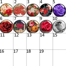 10mm 12mm 14mm 16mm 20mm 25mm 122 12pcs/lot Flower Mix Round Glass Cabochons Jewelry Findings 18mm Snap Button Charm Bracelet