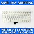 "Genuíno laptop teclado inglês dos eua para apple macbook a1342 13.3 ""branco EUA Teclado A1342 MC207 MC516 Final de 2009 Meados de 2010 Ano"