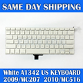 "Genuine Laptop A1342 US English Keyboard for Apple Macbook 13.3"" White A1342 US Keyboard MC207 MC516 Late 2009 Mid 2010 Year"