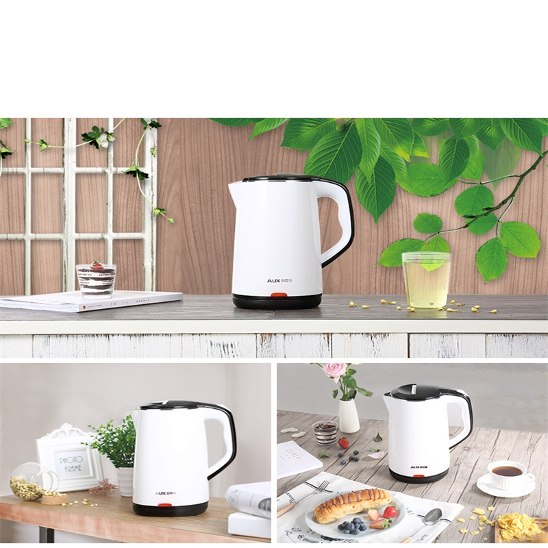 220V 1.5L Electric Kettle Household Good Quality 304 Stainless Steel Inner Anti-scald Kettle Fast Heating EU/AU/UK 220v 600w 1 2l portable multi cooker mini electric hot pot stainless steel inner electric cooker with steam lattice for students