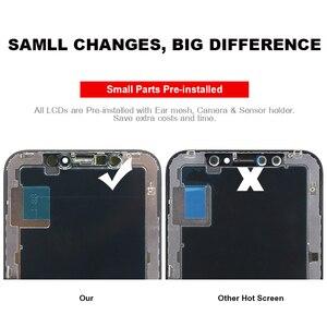 Image 2 - Qualidade superior display oled para iphone x xs xsmax xr lcd digitador da tela com tela de toque preto para iphone x display + dom gratuito