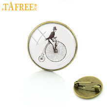 TAFREE Vintage bicycle riding pins decoration male magician bike brooches casual sports cycling badge for men women jewelry T843(China)