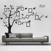 2017 New Arrival 3D DIY Photo Tree PVC Wall Decals Adhesive Wall Stickers Mural Art Home