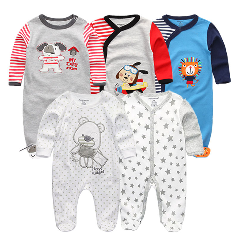 5 PCS/lot newbron 2018 winter long sleeve baby clothing set  baby jumpsuit girls baby girl romper roupa bebe baby boy clothes