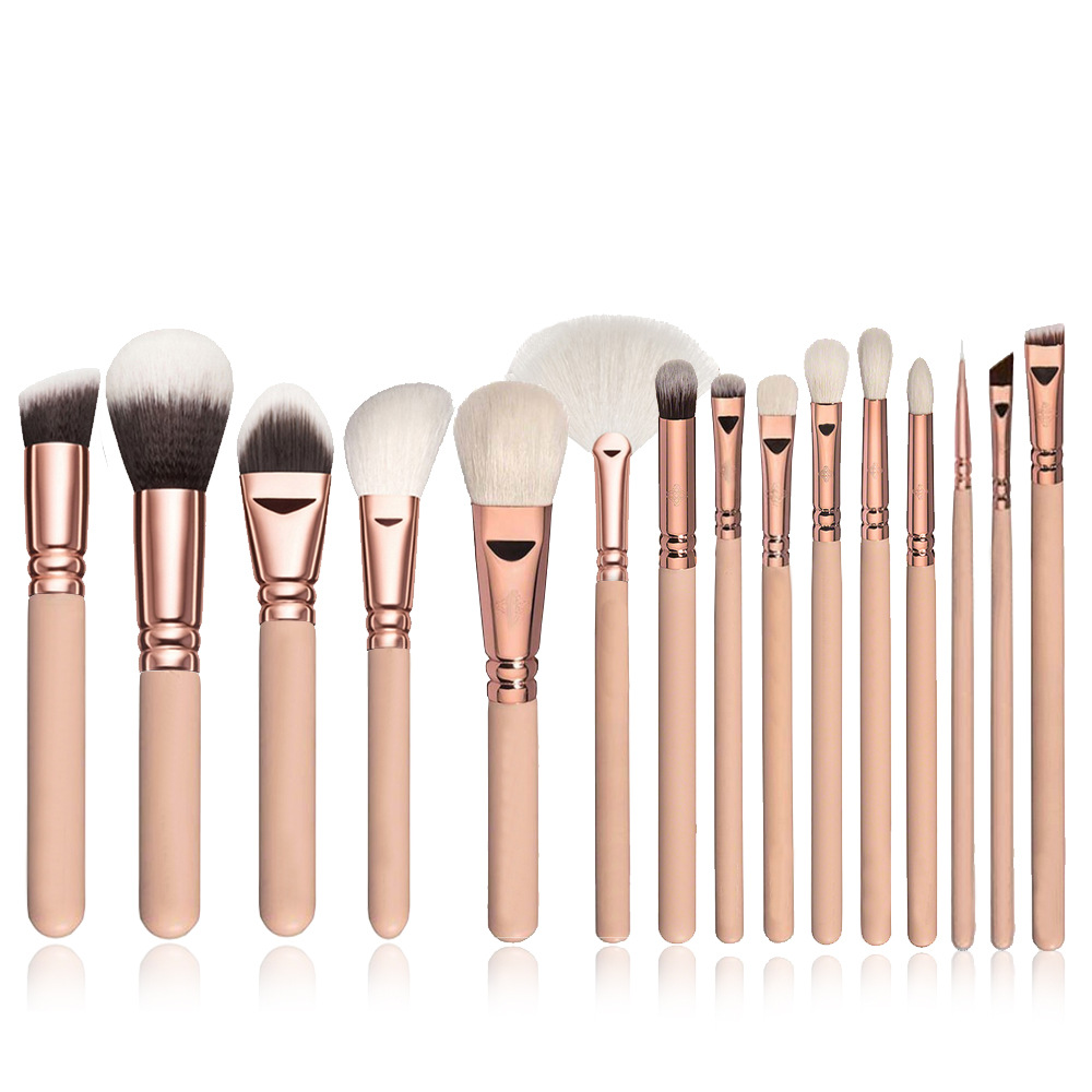 10/15pcs Makeup Brushes Set Pincel Maquiagem Powder Eye Kabuki Brush Complete Kit Cosmetics Beauty Tools with Leather Case 2