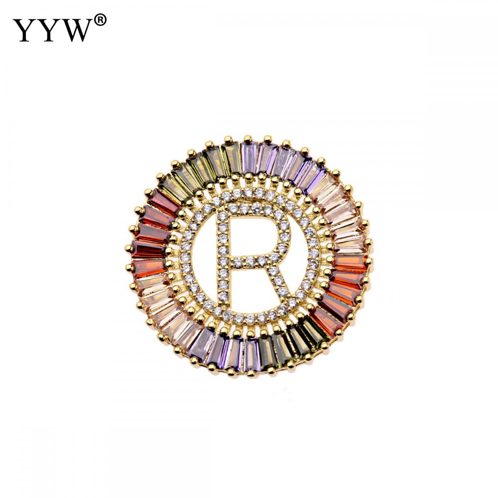 1Pcs New Trendy Gold Color Micro Pave Rainbow CZ Cubic Zirconia A Z Initials Letter Pendant Necklaces For Women Jewelry in Pendant Necklaces from Jewelry Accessories