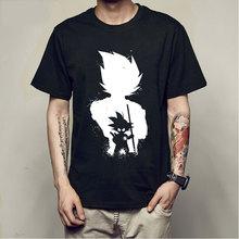 edd28ea4d Anime Dragon Ball Z Vegeta Super Saiyan Goku Piccolo 3D T Homens Da Camisa  do Costume